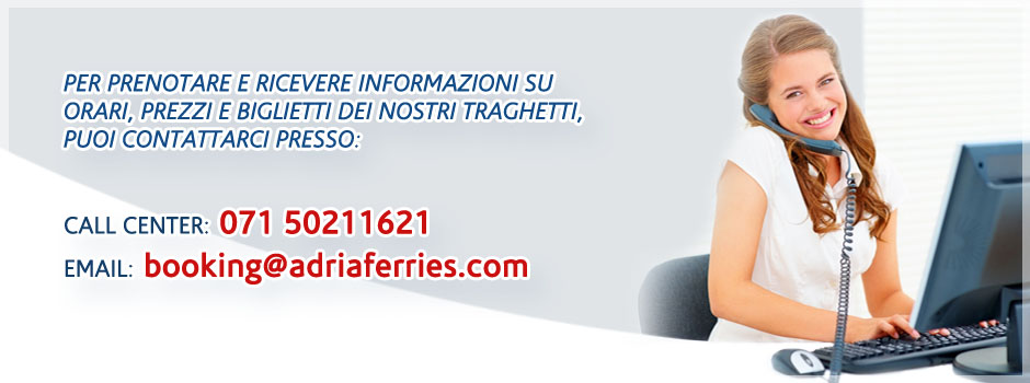 Contatti Adria Ferries per info e booking