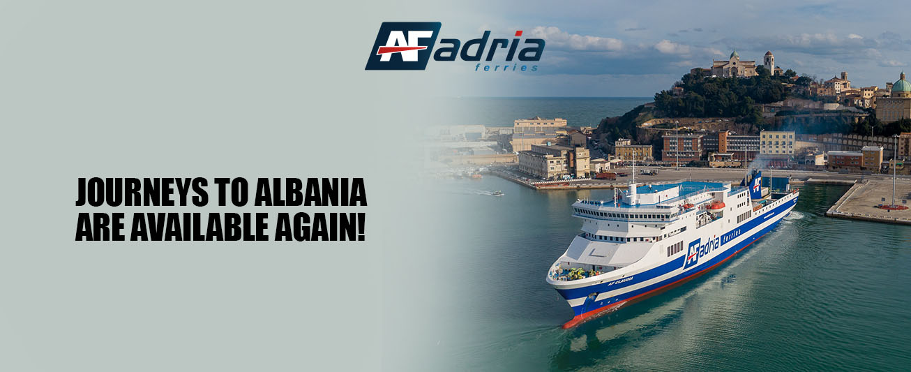 Adria Ferries is restarting journeys between Italy and Albania.