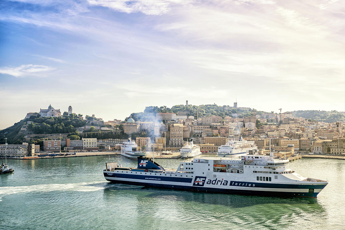 The AF Claudia in the Port of Ancona