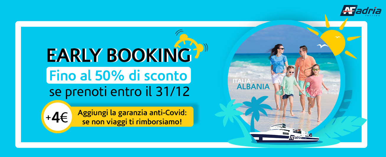 Offerta Early Booking 2021 Adria Ferries
